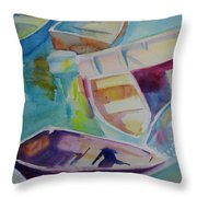 Colorfull Dingies Throw Pillow