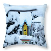 Colors In The Snow Throw Pillow