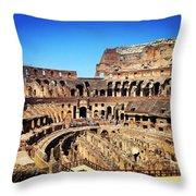 Colosseum Interior Throw Pillow