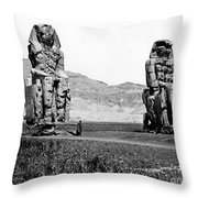 Colossi Of Memnon, Valley Of The Kings Throw Pillow