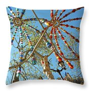Colourful Canopy Throw Pillow