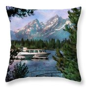 Colter Bay In The Tetons Throw Pillow