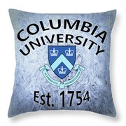 Columbia University Est. 1754 Throw Pillow