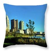 Columbus Ohio Panorama Throw Pillow