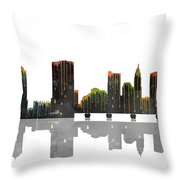 Columbus Ohio Skyline Throw Pillow