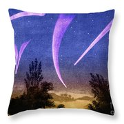 Comets In Night Sky Throw Pillow