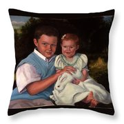 Commissioned Portrait Throw Pillow