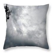 Communications Tower Throw Pillow