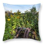 Community Garden Throw Pillow