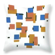 Composition With Colours Throw Pillow