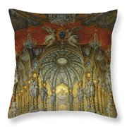 Concert Given By Cardinal De La Rochefoucauld At The Argentina Theatre In Rome Throw Pillow
