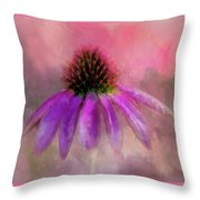 Coneflower Painted Throw Pillow