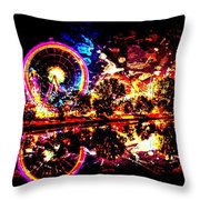 Coney Island Of The Mind Throw Pillow