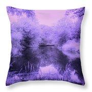 Conishead Lake Throw Pillow