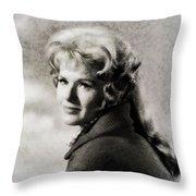 Connie Stevens, Vintage Actress Throw Pillow
