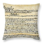 Constitution Throw Pillow