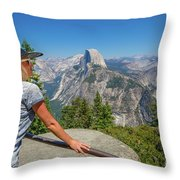 Contemplating Glacier Point Throw Pillow