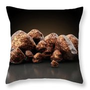 Copper Nugget Collection Throw Pillow