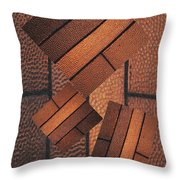 Copper Plate Abstract Throw Pillow