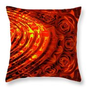 Copper Rose Throw Pillow