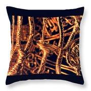 Copper Wirework Throw Pillow