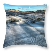 Coquina Beach, Cape Hatteras, North Carolina Throw Pillow