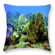 Coral Head Throw Pillow
