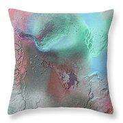 Coral, Turquoise, Teal Throw Pillow