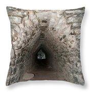 Corbeled Vault Passages In Grupo Coba At The Coba Ruins  Throw Pillow