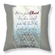 1 Corinthians 15 20 Throw Pillow