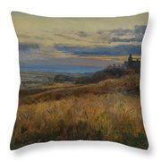 Cornfield At Sunset Throw Pillow
