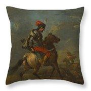 Cossack On Horseback Throw Pillow