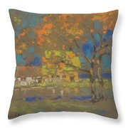 Cottage Amongst The Trees Throw Pillow
