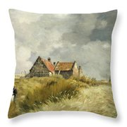 Cottage In The Dunes Throw Pillow