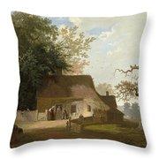 Cottage Scenery Throw Pillow