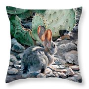 Cottontail Sunrise Throw Pillow