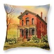 Courthouse Bannack Ghost Town Montana Throw Pillow