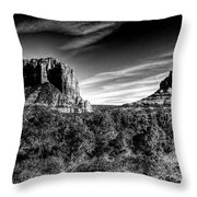 Courthouse Butte And Bell Rock Sedona Arizona Throw Pillow