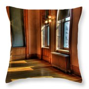 Courtroom Corner Throw Pillow