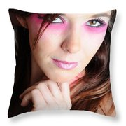 Covergirl Throw Pillow