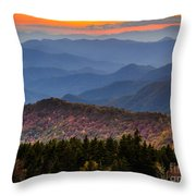 Cowee Overlook. Throw Pillow