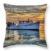 Crabbing Boat Donna Danielle - Smith Island, Maryland Throw Pillow