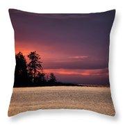 Craig Bay Sunset Throw Pillow