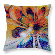 Crazy Daisy Throw Pillow