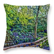 Creekside Throw Pillow by William Norton