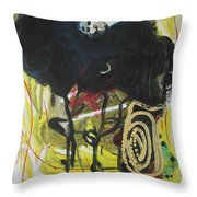 Crescent2 Throw Pillow