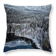 Cresta Lake Throw Pillow