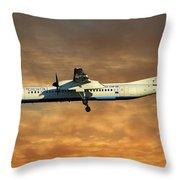 Croatia Airlines Bombardier Dash 8 Q400 Throw Pillow