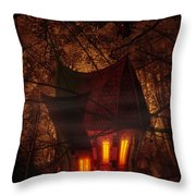 Crooked House Throw Pillow