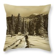 Cross Country Adventure Throw Pillow